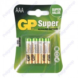 GP SUPER Mini Stilo Pile AAA 24A LR03 1 Blister da 2 batterie alcaline