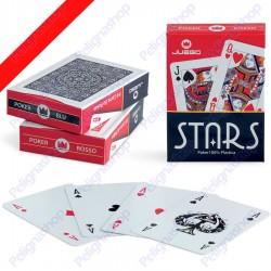 Juego Poker Stars - Mazzo di carte da Poker in plastica Dorso ROSSO