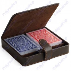 Juego Poker Set TREVISO - Astuccio con 2 mazzi di carte