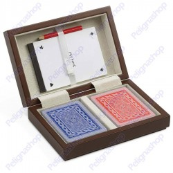 Juego Poker Set Venezia - Cofanetto con 2 mazzi di carte